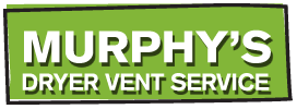 Murphy's Dryer Vent Service logo. Green background with white font